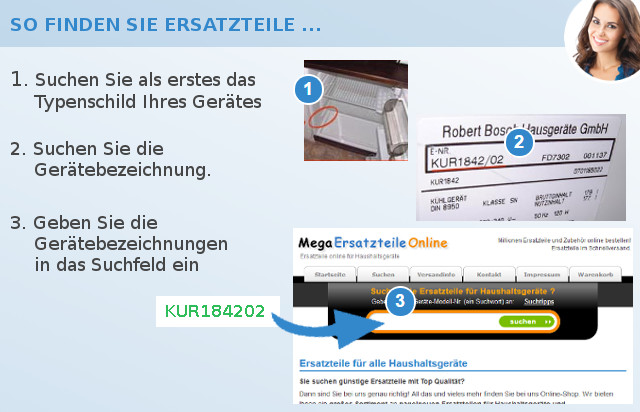 Airport Ersatzteile Kühl-Gefrierkombination Suche Info